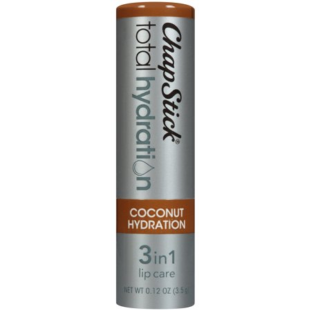 ChapStick Total Hydration 3 in 1 Lip Care with Omegas 3/6/9 Lip Balm Tube, Coconut Hydration Flavor, 0.12