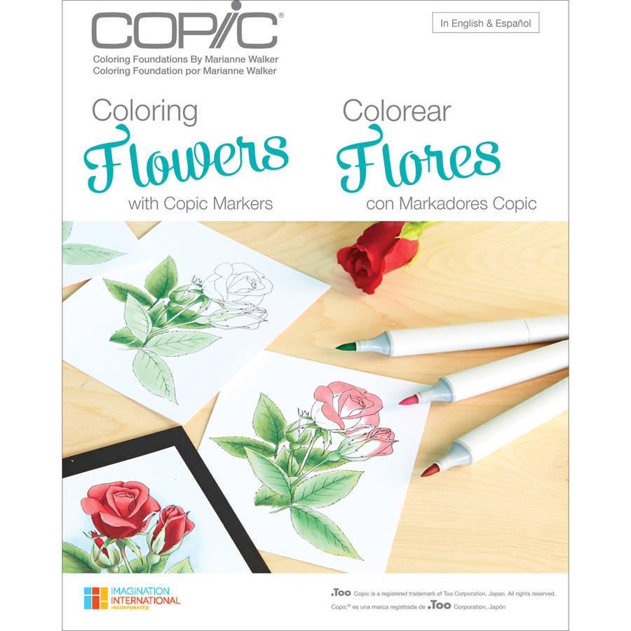 Copic Books Coloring Flowers