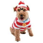 Where`s Waldo Woof Dog Kit Halloween Pet Costume (Multiple Sizes Available)
