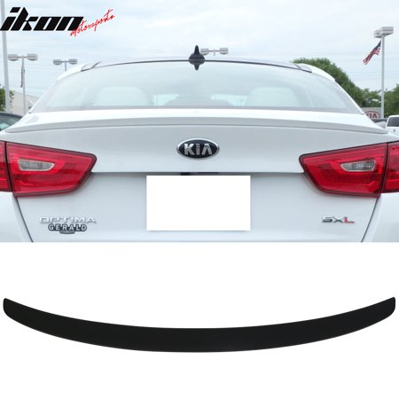 Lip Mount Spoiler - Matte Black! Fits 14-15 Optima K5 Aero Parts Factory Flush Mount Trunk Spoiler