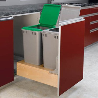 Rev-A-Shelf Double Rev-A-Motion Pull Out 50 qt. Trash Can