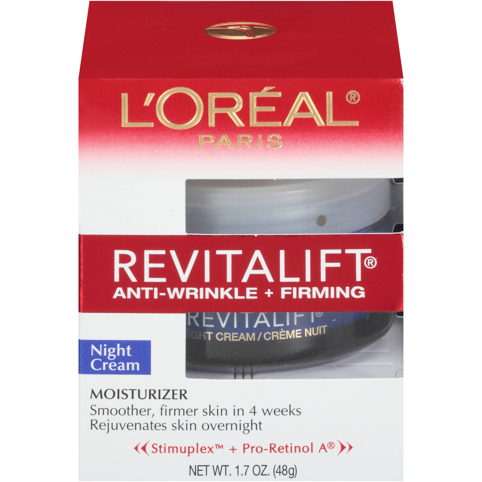 L'Oreal Paris RevitaLift Anti-Wrinkle & Firming Night Cream, 1.7 oz