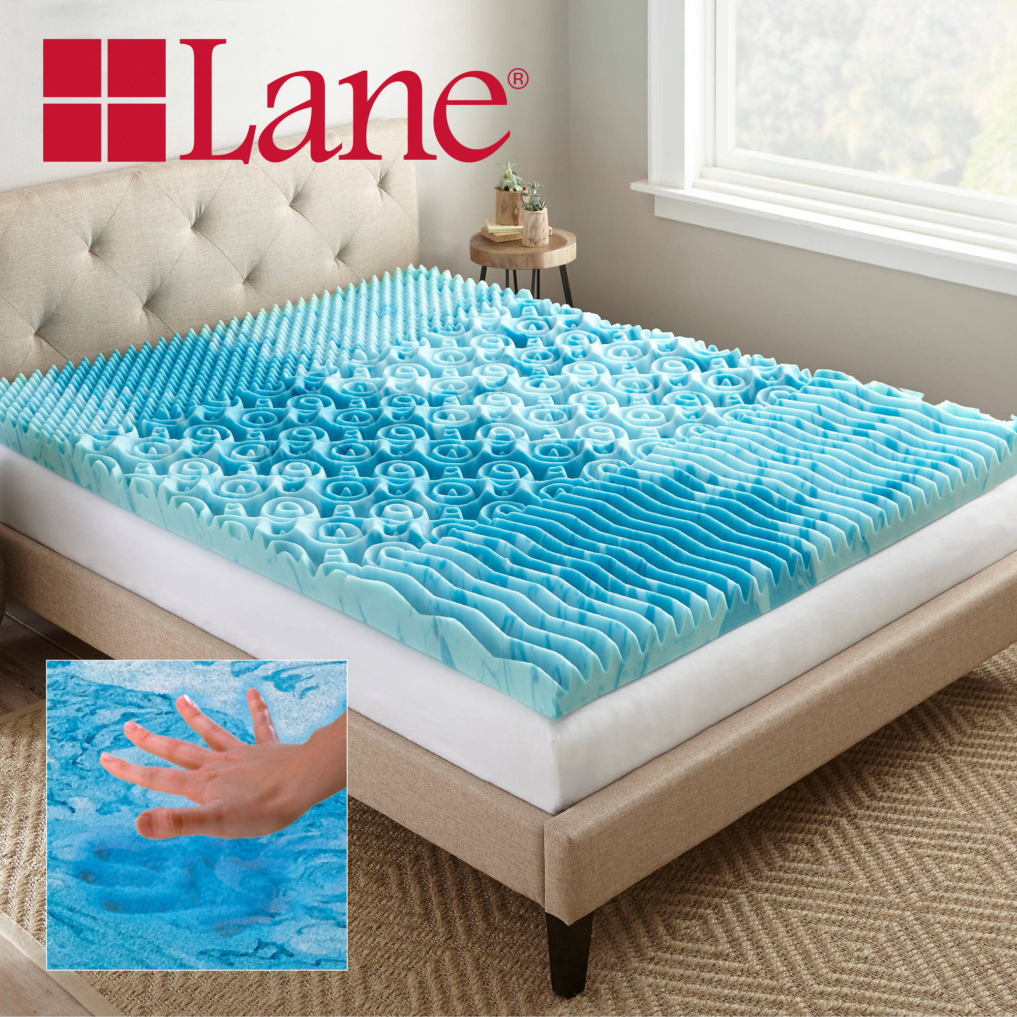 "Lane 3"" Cooling GelLux Memory Foam Gel Mattress Topper ..."