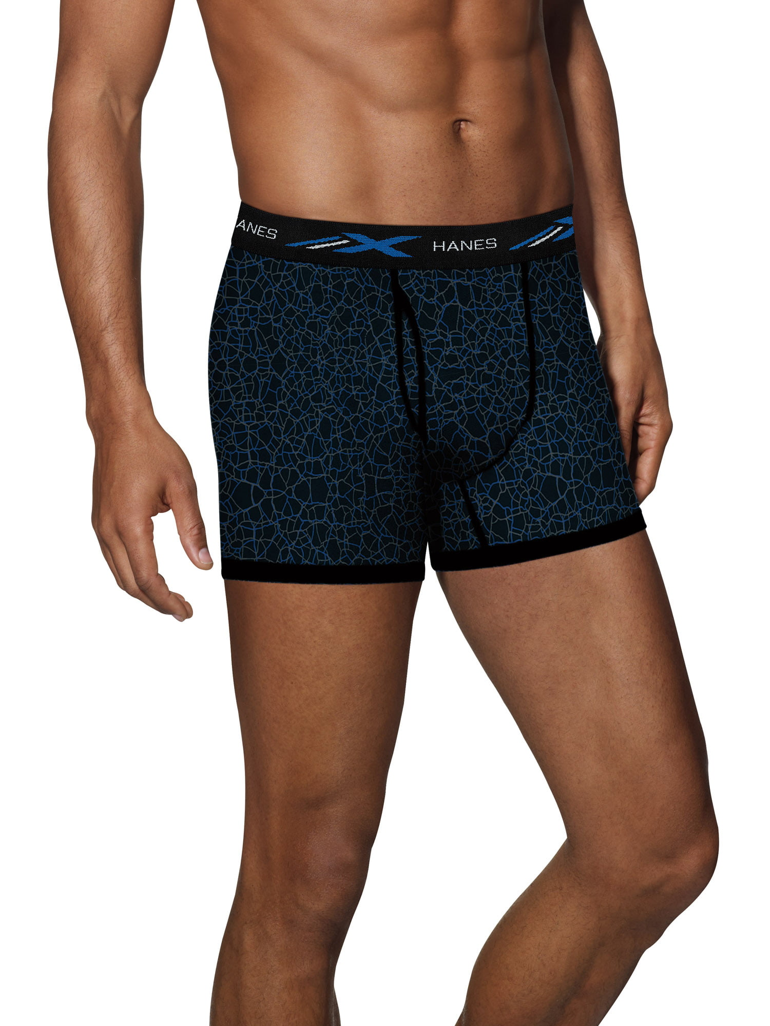 Mens Boxer Briefs Underwear All Fired Up No Ride Up Cotton Stretch Short