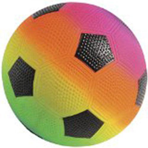 Lot Of 12 Rainbow Theme Soccer Design Playground Kickballs by US Toy