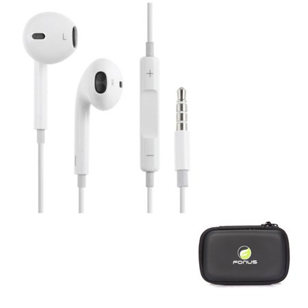(Authentic Apple Earpods Original Headset Dual Earbuds Earphones 3.5mm [White] A1Y for iPhone 6 Plus 6S Plus SE, Ipod Nano 5th Gen 7th Gen Touch 1st Gen 2nd Gen 3rd Gen 4th Gen 5 - Google Pixel XL)