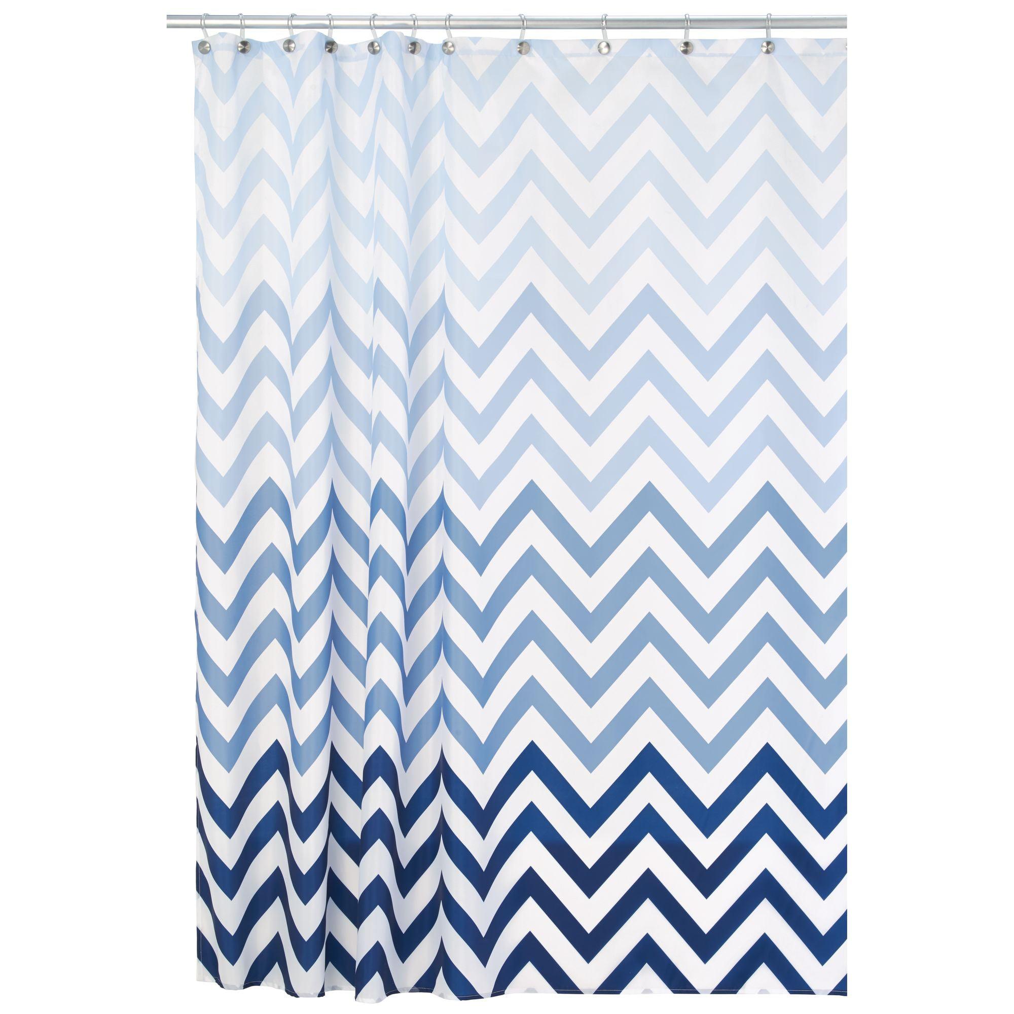 Interdesign Ombre Chevron Fabric Shower Curtain Standard 72 X 72