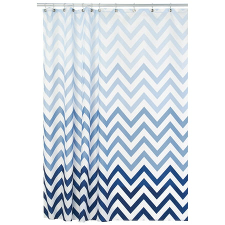 InterDesign Ombre Chevron Fabric Shower Curtain Various Colors