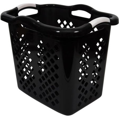 Home Logic Best Lamper Laundry Basket 2 Bushel Black