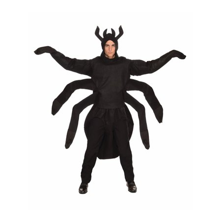 Halloween Creepy Spider Adult Costume (Creepy Halloween Makeup Smile)