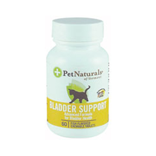 Pet Naturals of Vermont 651372 Bladder Support For Cats 60 Fish Flavored Chewable Tablets