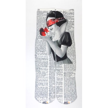 Art N Wordz Apparel Snow White Life-Literally Dictionary Print Pop Art Unisex Socks