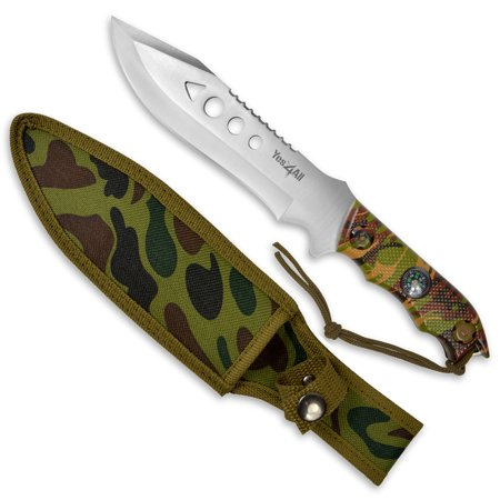 Yes4All Camouflage Camping / Tactical Fixed Blade Knife with Sheath (H150)