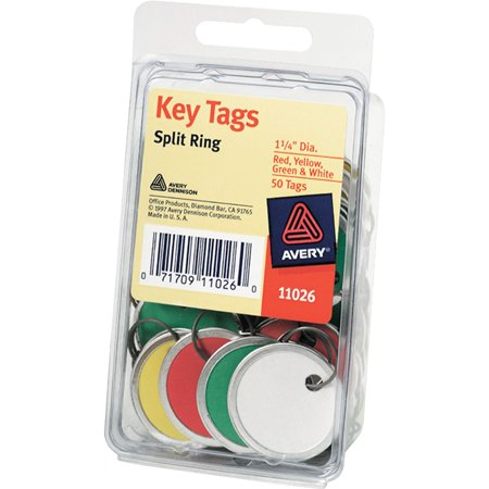 Avery®, AVE11026, Key Tags, 50 / Pack, Assorted