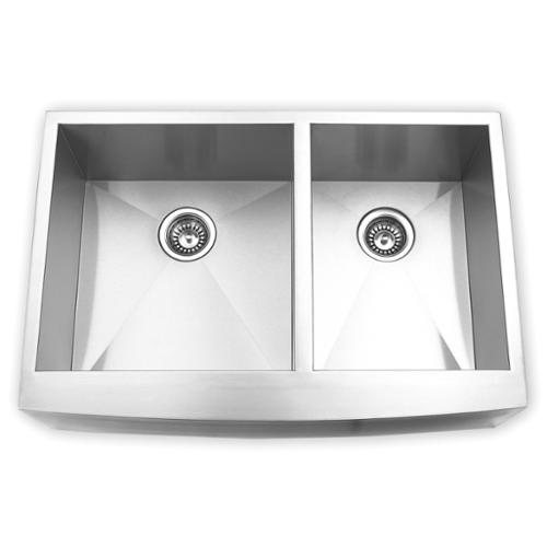 33 inch kitchen sink stainless steel blue ocean 33inch stainless steel double bowl apron kitchen sink