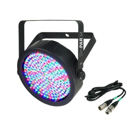 - NEW CHAUVET SlimPar 64 LED DMX Slim Style Par Can DJ Stage Light + 25' DMX Cable