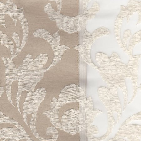 Danbury Embroidered Pieced Voile Faux Silk Polyester Curtain Panel Embroidered Silk Polyester