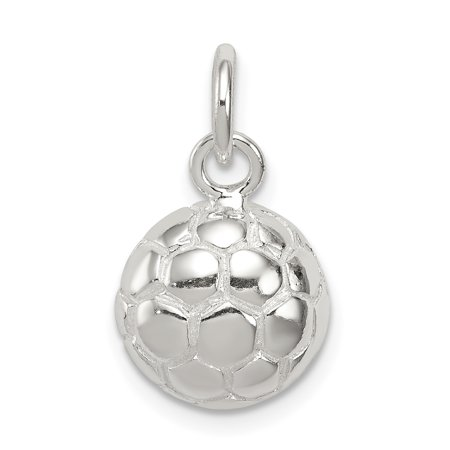 d0189bfc1 925 Sterling Silver Soccer Ball Pendant Charm Necklace Sport Fine Jewelry  Gifts For Women For Her ...