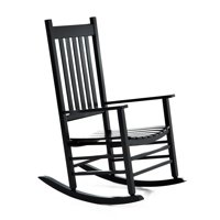 Product Image Outsunny Porch Rocking Chair Outdoor Patio Wooden Rocker Black