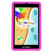 """LINSAY 7"""" Tablet Kids 2 GB RAM 16 GB Android 9.0 New Funny Tablet Kids with Pink Defender Case Dual Camera"""