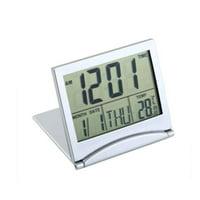 LCD Display Calendar Alarm Clock Desk Digital Thermometer Cover Flexible Desk Table Clock