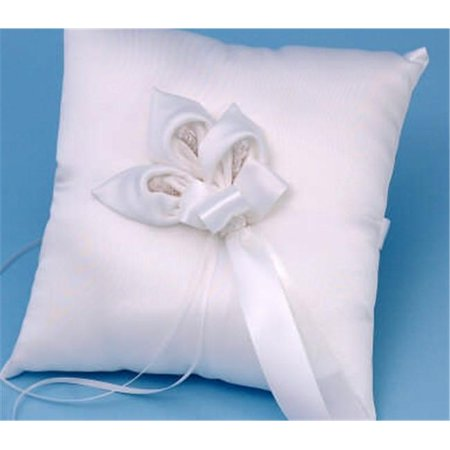 Beverly Clark A01075RP/WHT Calla Lily Ring Pillow - White