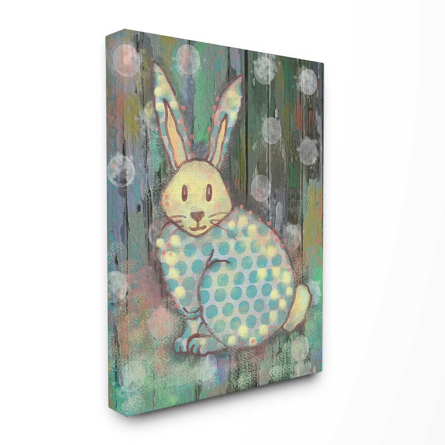 The Kids Room by Stupell Distressed Woodland Rabbit Stretched Canvas Wall Art, 16 x 1.5 x 20