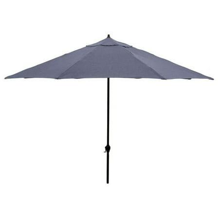 March Products 245804 11 ft. Polyester Aluminum Deluxe Crank Open Market Umbrella, Charcoal - image 1 de 1