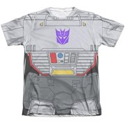Trevco Sportswear HBRO132-ATPC-3 Transformers & Megatron Costume - Adult Poly & Cotton Short Sleeve Tee, White - Large