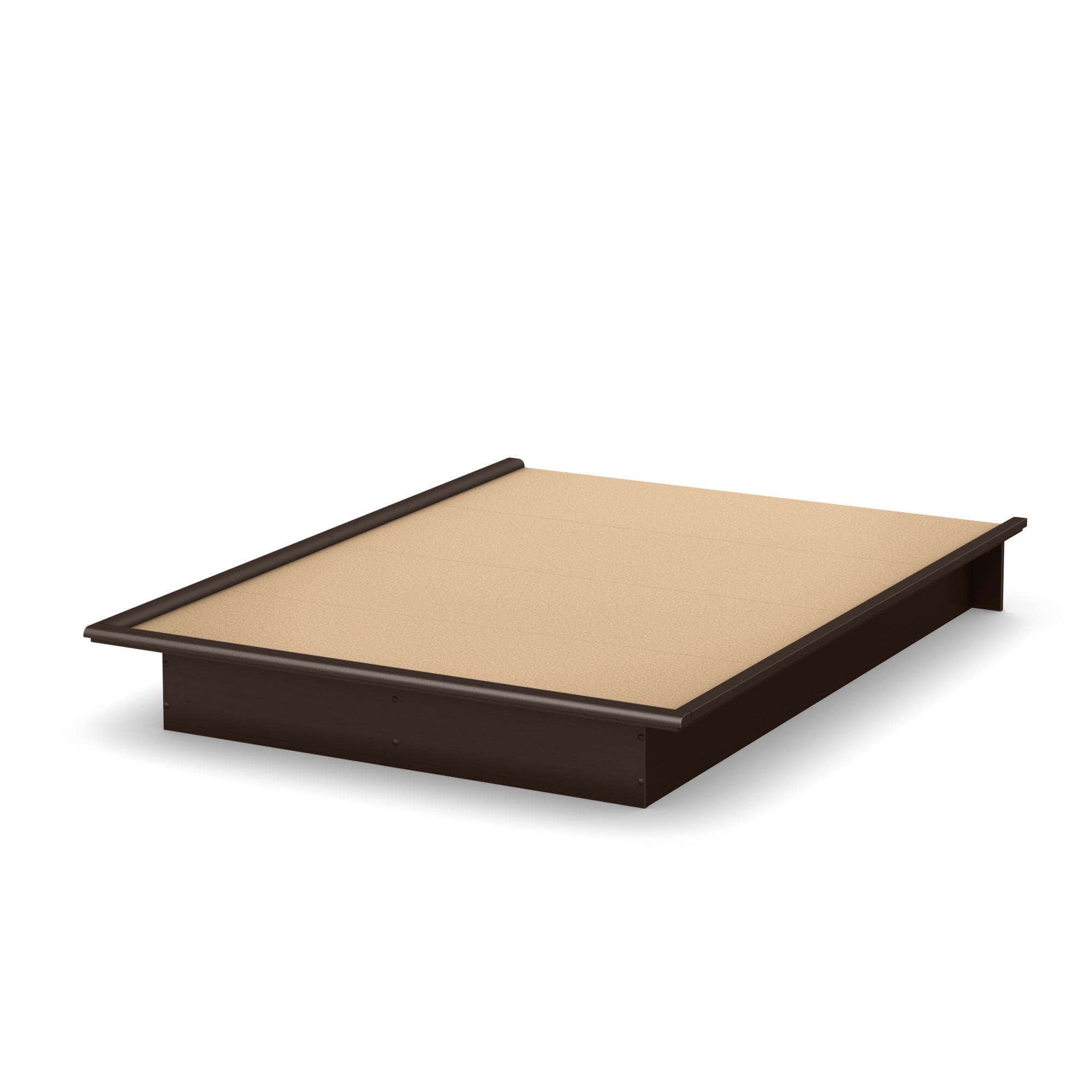 "South Shore Basics 54"" Full Size Platform Bed with Molding ..."