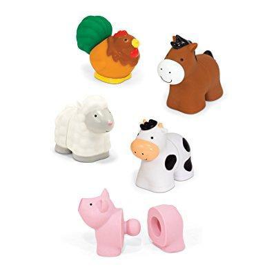 Melissa and Doug melissa ; doug pop blocs farm animals educational bJy toy - 10 linkJle pieces
