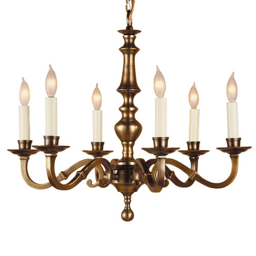 JV Imports JVI Designs 6-Light Candle-Style Chandelier
