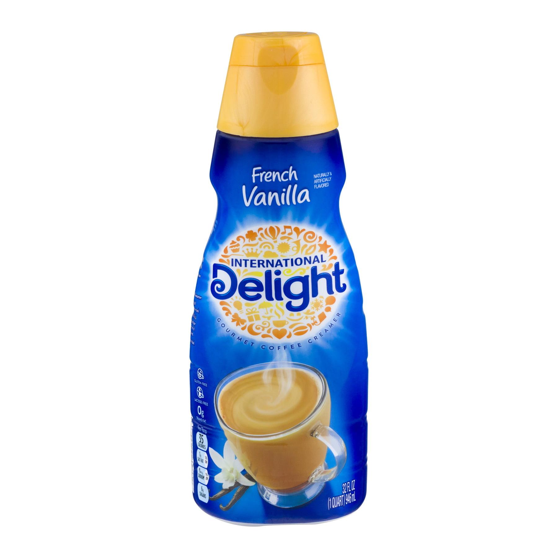 International Delight Sugar Free French Vanilla Gourmet Coffee Creamer, 1 Quart See Details Product - International Delight One Touch Latte Caramel Frothing Coffee Creamer, 12 Oz.