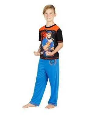 WWE Boys Jonh Cena Respect Wrestling Kids Pajama with 2 or 3 Piece Set, Short Sleeve, Size: 6-7 Years