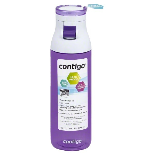 NA, Contigo 24 oz Lilac Water Bottle, 1 bottle