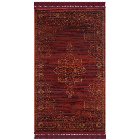 "Safavieh Serenity 5'1"" X 7'6"" Power Loomed Rug in Ruby and Gold - image 1 de 5"