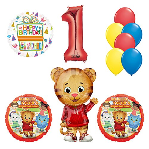 Daniel Tiger Neighborhood 1st Birthday Party Supplies and Balloon Decorations
