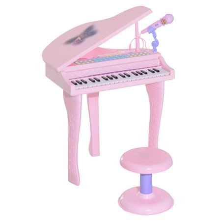 Qaba Kids 37 Key Baby Grand Digital Piano with Microphone and (Used Baby Grand Piano)