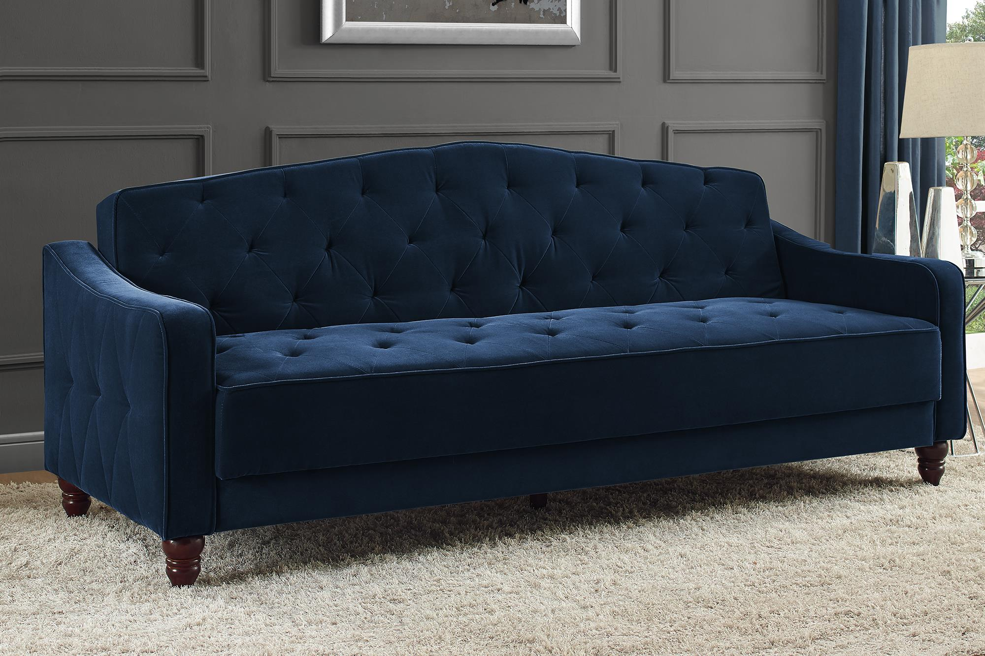 Novogratz Vintage Tufted Sofa Sleeper II, Multiple Colors Image 2 Of 15