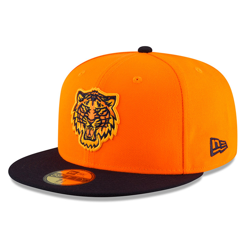 Detroit Tigers New Era Youth 2018 Players' Weekend On-Field 59FIFTY Fitted Hat - Orange/Navy