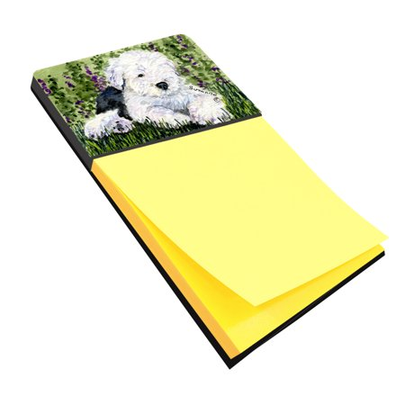 Old English Sheepdog Refiillable Sticky Note Holder or Postit Note Dispenser SS8840SN
