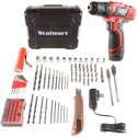 Stalwart 75-PT1003 12V Lithium Ion 75 Pc 2 Speed Drill and Set