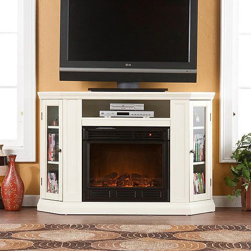 "Silverado Convertible Media Electric Fireplace, for TVs up to 46"", Ivory"
