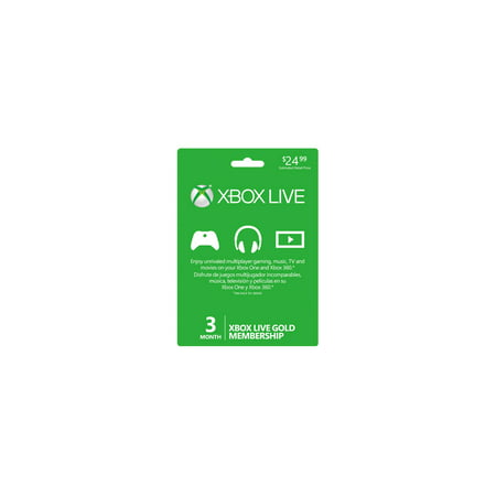 Microsoft 3-Month Xbox Live Gold Membership (33631) ()