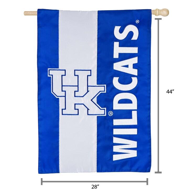 Kentucky Wildcats 28 X 44 Double Sided Embellish House Flag Walmart Com Walmart Com
