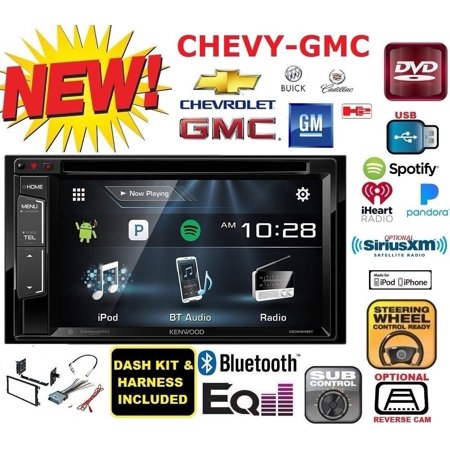 CHEVY-GMC KENWOOD Cd Dvd usb Bluetooth car Radio Stereo Double Din Dash Kit (Bluetooth Dvd Cd Car Stereo)