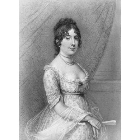 Dolley Madison  1768 1849  Nne Payne Wife Of James Madison Steel Engraving American 19Th Century Poster Print By Granger Collection