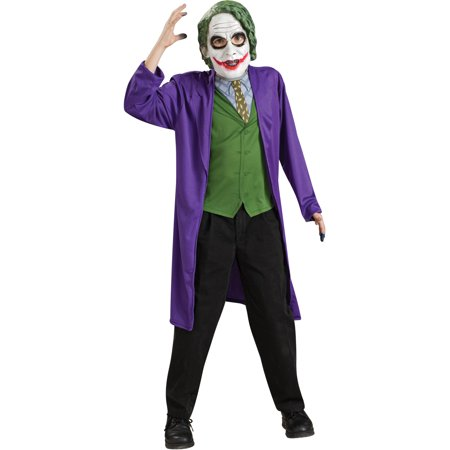 Batman The Dark Knight Childs The Joker Costume And Accessory - Dark Knight Joker Costumes