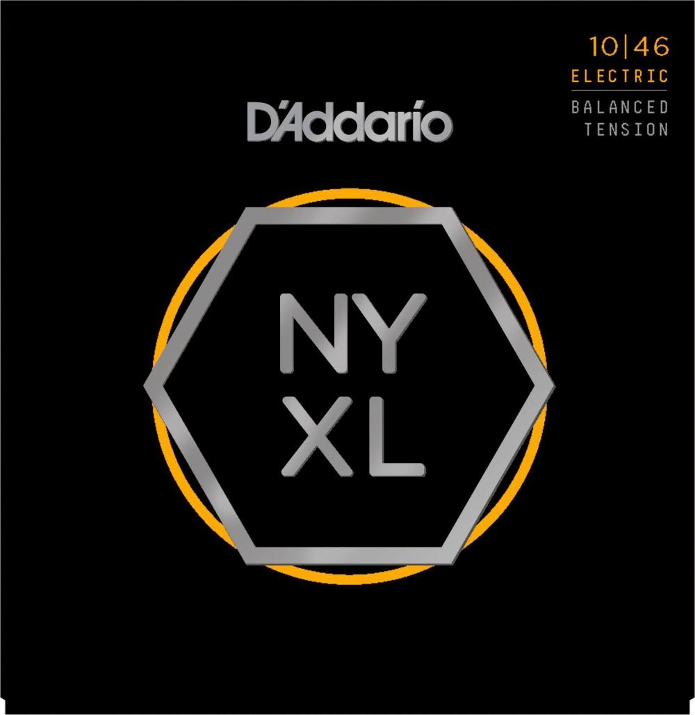D'Addario NYXL1046BT Balanced Tension Nickel Wound Electric Guitar Strings (10-46) by D'Addario