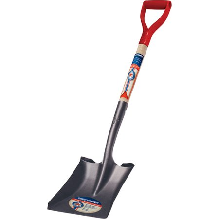 Image of True Temper 1564500 Square Point True American D Shaped Wood Handle Shovel